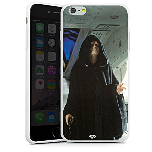 Apple iPhone X Silikon Hülle Case Schutzhülle Star Wars Merchandise Fanartikel Darth Sidious Silikon Case weiß