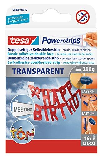 TESA Powerstrips DECO, transparent, fixation: maxi 0,2 kg