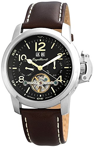 Engelhardt Men's Automatic Watch Silver Dark Brown