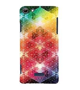 FUSON Rainbow Flower Aura Pattern 3D Hard Polycarbonate Designer Back Case Cover for Micromax Canvas Selfie 3 Q348