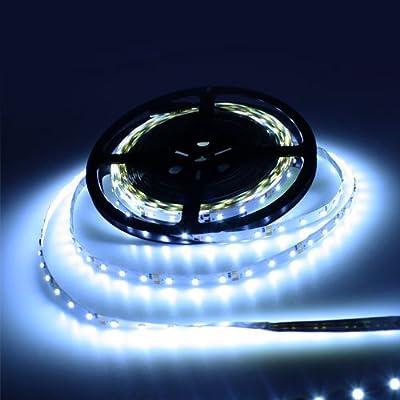 10M LED Streifen Set Kaltweiß 3528 SMD Nicht Wasserdicht Strip mit Trafo Netzteil DC12V von Canbolat Vertriebs GmbH - Lampenhans.de