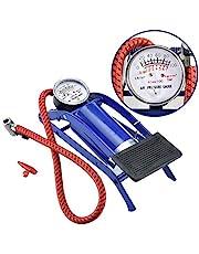 UNIK BRAND™ High Pressure Foot Pump, Bike Motorbike Inflation Pump with Pressure Gauge, Foot Pedal Inflator Single Barrel Cylinder Air Pump Inflation Pump for Motorcycles, Bicycle Tyre Balls