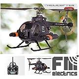FM70 von FM-electrics   XXXL Single Rotor Helikopter 4 Kanal mit Gyrosensor, Huges 500 in Scale Optik mit 62cm Länge