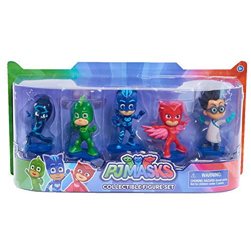 PJ Masks Pack de 5 Figuras (Bandai 24580), Surtido: Modelos aleatorios