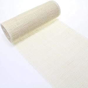 10m Tischläufer Tischband Jute 30cm breit Gitterband, Farbe:gebleicht