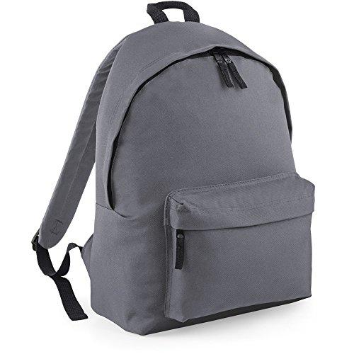 Bagbase Unisex Maxi Fashion Backpack / Rucksack Grey Maxi Fashion