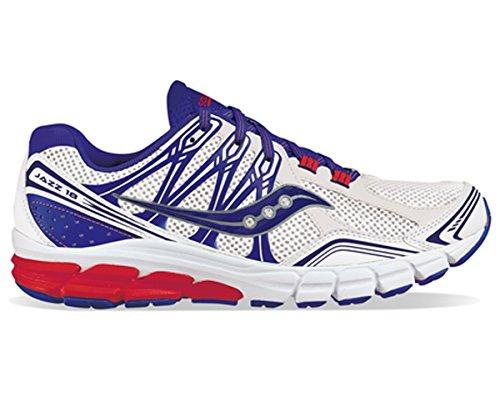 Saucony - Zapatillas de running de Material Sintético para hombre blanco Wht/Blu/Red blanco Size: 42.5