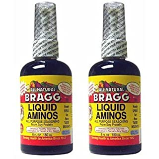 (2er BUNDLE)| Bragg Liquid Aminos, Alternative to Tamari & Soy Sauce, 6 fl oz (180 ml) 2.1 x 2.1 x 6.5 inches