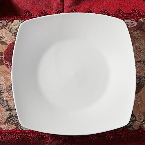 Platte Platte gehackt Pure White square Keramisches Geschirr, 23 * 3 cm White Square Platte