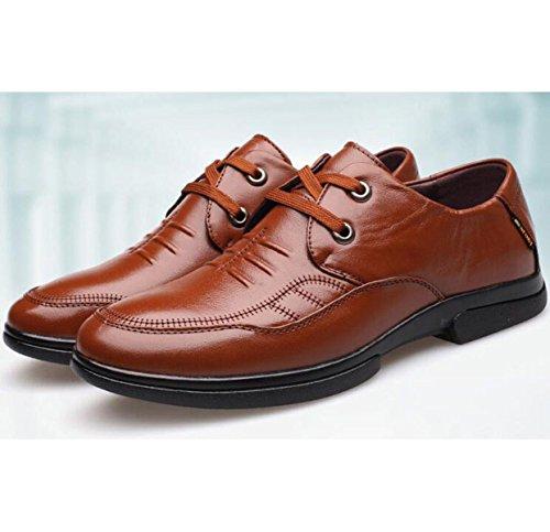 Pattini Di Vestito Da Affari Degli Uomini Nuovi Scarpe Gentleman Derby Leather Popular B