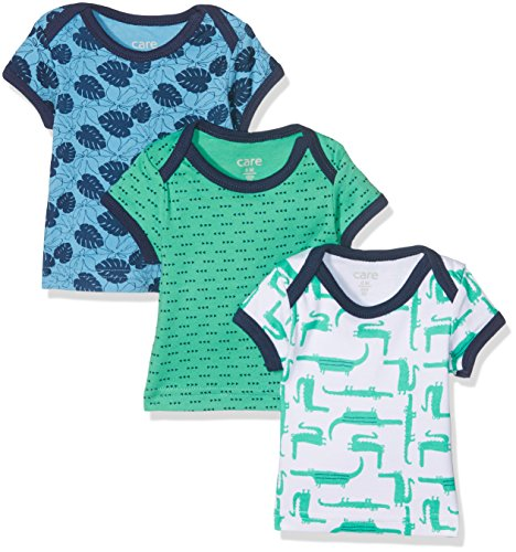 Care Baby-Jungen T-Shirt Bard, 3er Pack, Mehrfarbig (Winter Green 931), 74