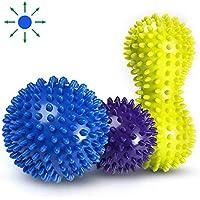 Pelota de lacrosse para masaje bola masajeador de pies con pinchos cammate  con Spike para mejorar 81a3c18b13b3