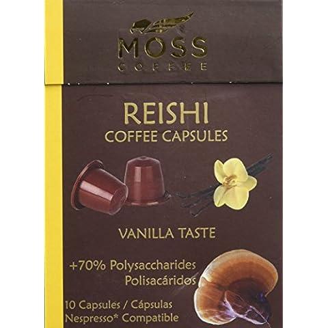 DISPONIBLE EN NUESTRA WEB - Moss Coffee 10 Cápsulas compatibles Nespresso* con polvo puro de Reishi -