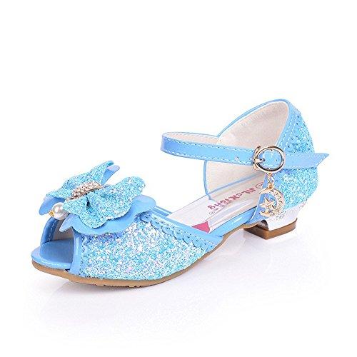 ZGSX Ragazze di estate 2017 sandali dei nuovi bambini i tacchi alti simpatici pattini della principessa ragazze Blu