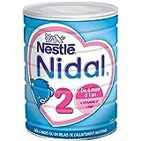 Nestlé Nidal 2 Lait en Poudre 2ème Âge pour Bébé - de 6 à 12 mois - 800g - Lot de 3