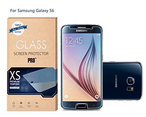 TAPLF La pellicola di vetro temperato di alta qualita' di Samsung Galaxy S6,9H durezza di (Scudo Polvere)