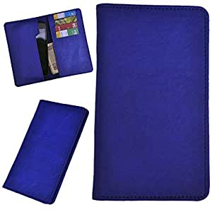 DCR Pu Leather case cover for Karbonn S1 Titanium (blue)