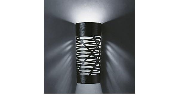 Plafoniera Foscarini : Foscarini lampada da parete tress grande nero: amazon