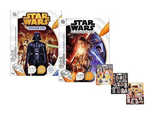 Ravensburger tiptoi ® Bücher Set - Star Wars TM Buch Episode I-VI und Episode 7 - Das Erwachen der Macht + Star Wars Sticker