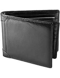 Portefeuille en cuir Rakuka pour homme, avec emplacements pour cartes bleues, poche porte-monnaie