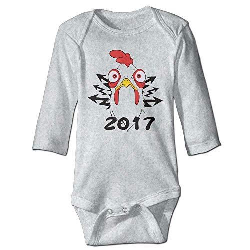 Unisex Newborn Bodysuits Chicken 2018 Boys Babysuit Long Sleeve Jumpsuit Sunsuit Outfit Ash