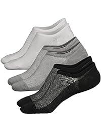 914333a676 Ueither Calzini Fantasmini da Uomo/Donna, Sneaker Calze Invisibili in Cotone  Elasticizzato, Calze Corti Traspirante…