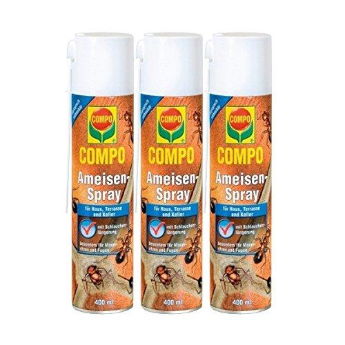 Compo hormigas de spray 3x 400ml