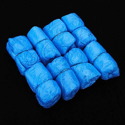 shyyymaoyi Überschuhe, wasserdicht, langlebig, Einweg-Kunststoff, staubdicht, 100 Stück Mehrfarbig - Regen Mehrfarbige Teppiche