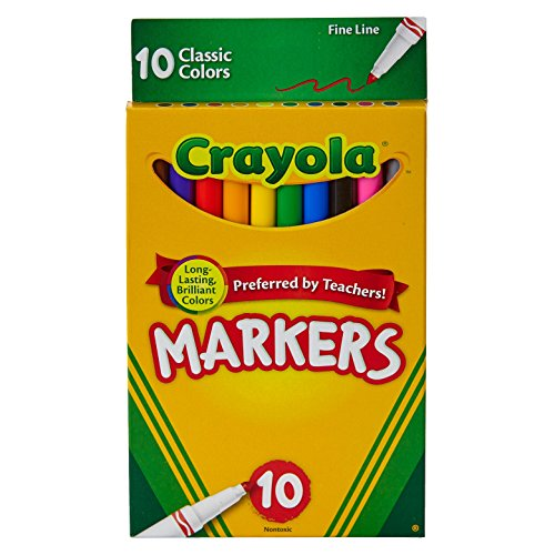 Line-classpack (Crayola Fine Line Markers, Assorted Classic Classpack, Pack of 10)