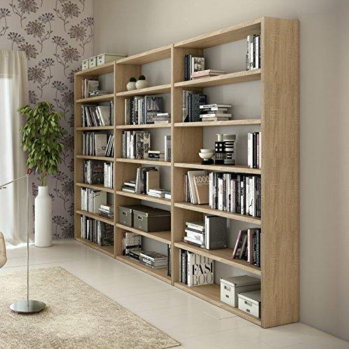 Wohnwand Bücherregal TOLEO238 Eiche Sonoma Nachbildung