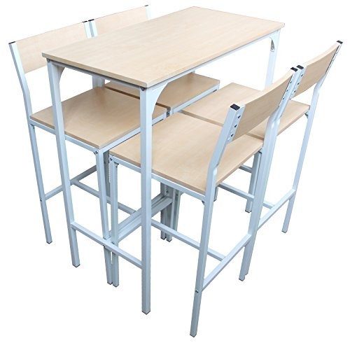 ENSEMBLE-TABLE-ET-CHAISES-4-MEUBLES-MAISON-TABLE-DE-BAR-BOIS-BLANC-ET-COULEUR-SET-JESOLO