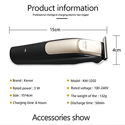 Professional Electric Hair Clippers, Cordless Wired Styling Tools Shaving Machine Hair Trimmer, Stainless Steel Blade Engraving Knife Head