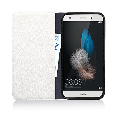 Für Apple iPhone --- 7-Plus --- eSPee Hülle Schutzhülle Wallet Flip Case Cremeweiß mit Strass Bogen UNZERBRECHLICHER Silikon Schale / Bumper und Magnetverschluss Cremeweiß