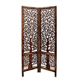 Artesia Handcrafted Wooden 2 panel Room Divider Partition Screen (Brown)