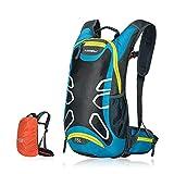 Fahrradrucksack 15L Trinkrucksack Stylisch Wasserdicht Rucksäcke für Radsport Radfahren Running Laufen Jogging, Raincover enthalten (Blau)