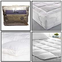 """Colchón de 5 cm de profundidad """"Microlite"""" caja de microfibra de la cama con las esquinas no alergénico relleno de fibra hueca excímero T233 cuenta, doble"""