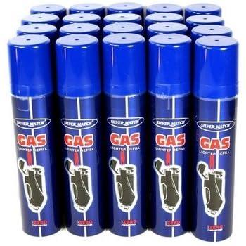 SILVER MATCH - Lot de 12 bouteilles recharges de gaz  de 250 ml