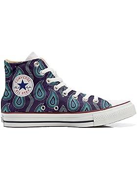 Converse All Star zapatos personalizadas Unisex (Producto Artesano) Purple Paisley