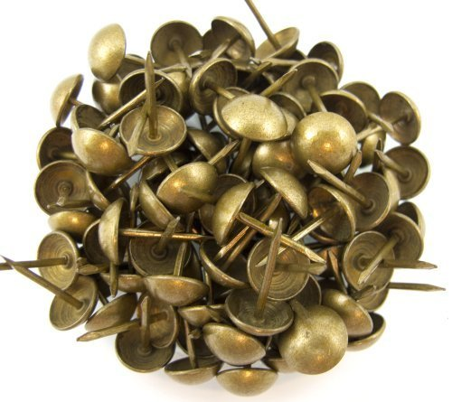 C.S. Osborne Natural French Nail Tacks Antique Brass 5/8\