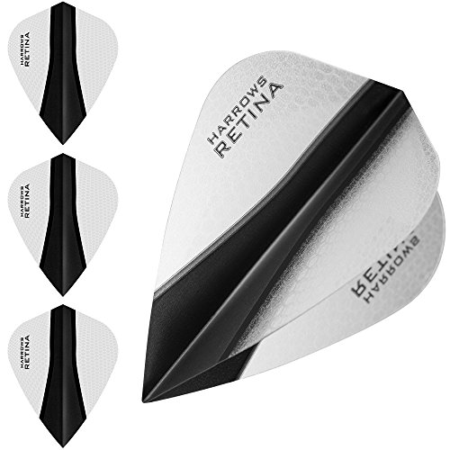 HARROWS retina-x Dart Flights-5sets (15)-100micron Extra Stark-Kite-Klar (Klar, Dart Flights)
