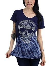 Affliction - - Olivia crâne des femmes T-shirt