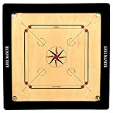 #10: GSI Khel Mandir Matte Finish Carrom Board with Coins, Striker and Powder (Club 35 inch 8mm)