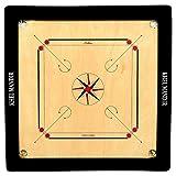 #3: GSI Khel Mandir Matte Finish Carrom Board with Coins, Striker and Powder (Club 35 inch 8mm)