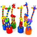Kid's Toys, Xinantime Dancing Stand Colorful Rocking Giraffe Wooden Toy from Xinantime