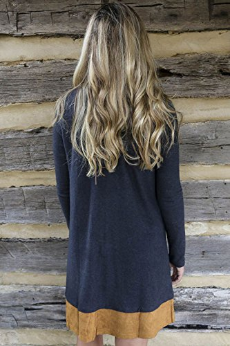 KingField - Robe - Blouson - Manches Longues - Femme Medium Bleu - Bleu profond
