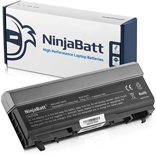 NinjaBatt 9 Zellen Laptop-Akku für Dell MP490 PT434 4M529 Latitude E6410 E6400 E6500 E6510 Precision M4400 M4500 KY265 NM631 GN752 U5209 KY477 - Hohe Leistung [6600mAh/73wh]