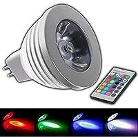MR16RGB 4W LED–Cambio de color Lámpara 4W Lámpara de luz con mando a distancia Colores Foco Bombilla Bombilla Spot