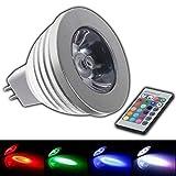 MR16 RGB 4W LED - 12V AC/DC Farbwechsel Lampe 4 Watt mit Fernbedienung Farblicht Lampe Strahler Glühbirne Birne Leuchtmittel Spot