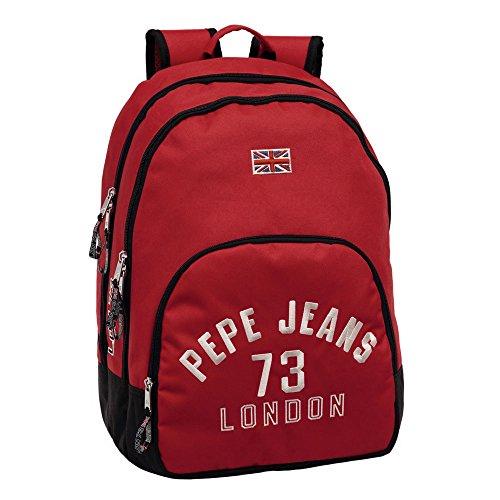 Pepe Jeans Mochila Adaptable a Carro, Diseño Kanoa, Color Rojo, 30.98 Litros
