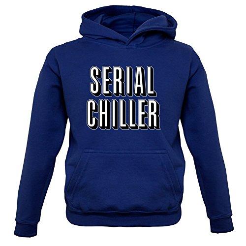 Serial Chiller - Kinder Hoodie/Kapuzenpullover - Navy - XXL (12-13 Jahre) (Netflix Und Chill Halloween Kostüm)